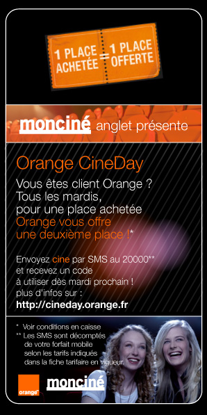 moncin� PARTENAIRE D'ORANGE CINEDAY